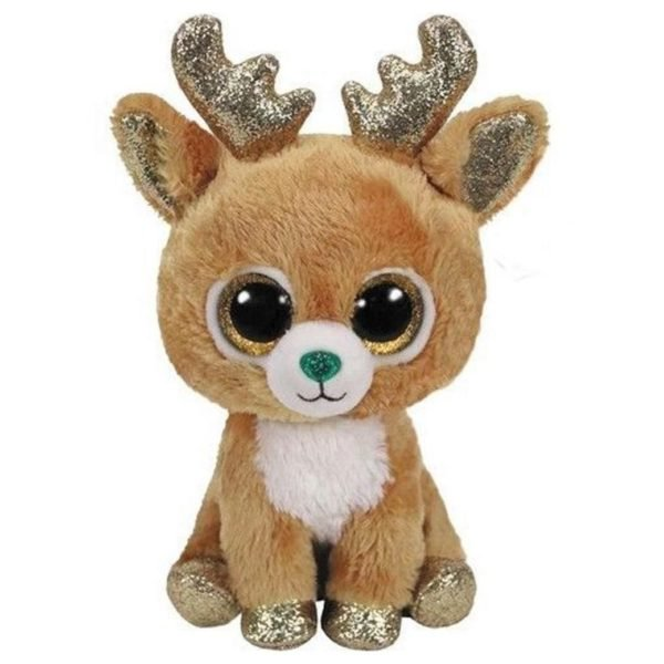 TY Beanie Boos Reindeer Glitzy Brown Regular 6in