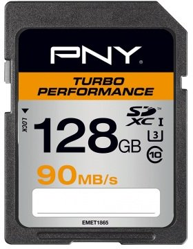 PNY SD128TURPER90EF Turbo Perfomance SD Card 128GB