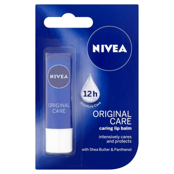 NIVEA Original Care Caring Lip Balm, 4.8 g