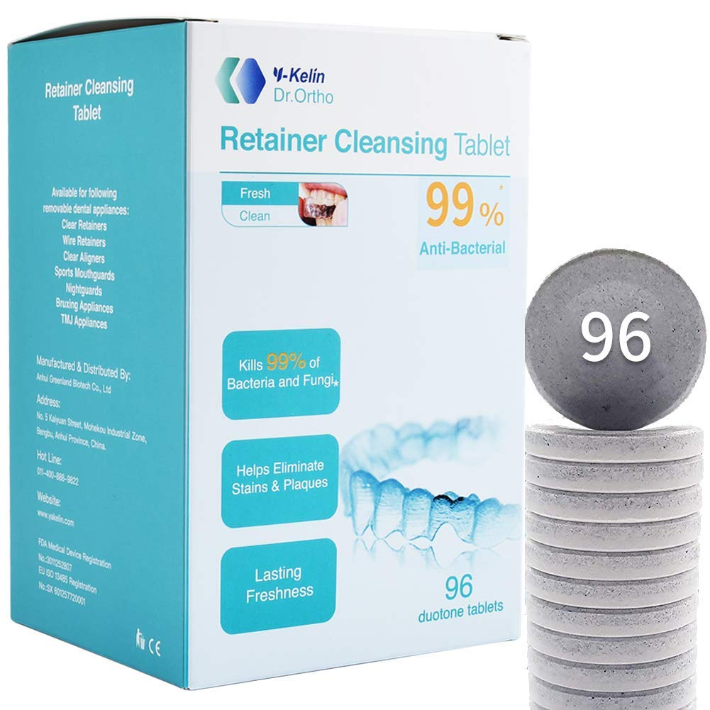 Y-Kelin Retainer Cleansing Tablet 96 قرصًا منظف الاحتفاظ (96 قرصًا)