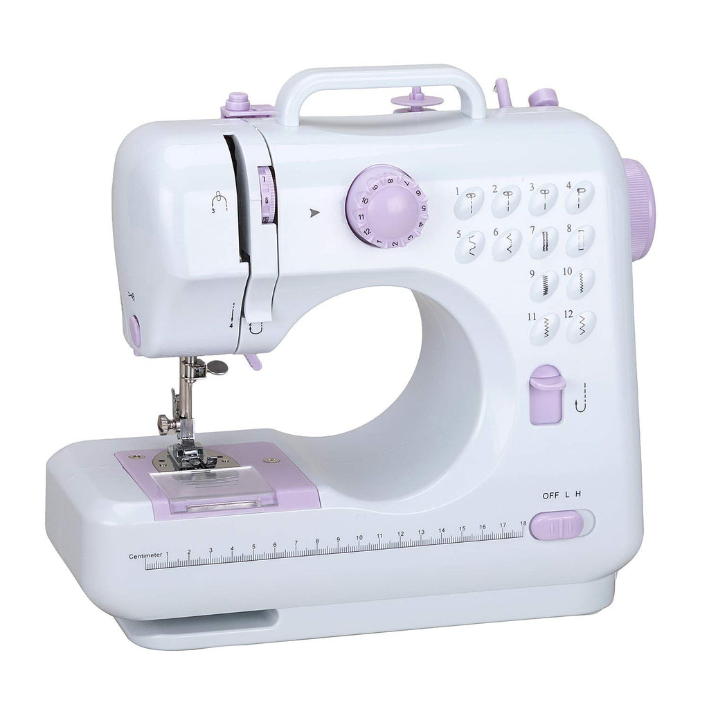 Sewing Machine Household Sewing Machine for Beginners Multi-Function Mini Sewing Machines with Built-in 12 Floral Stitches Hand-held Tailor Device for Kids Children Pet's Cloth