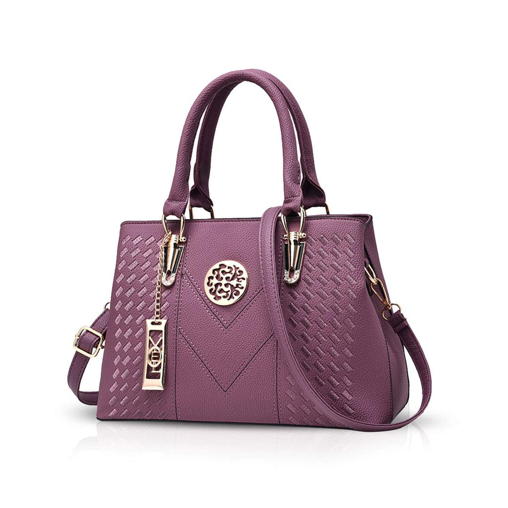 NICOLE & DORIS Women Handbags Fashion Top Handles Shoulder Bags for Women Classic Handbags Purple
