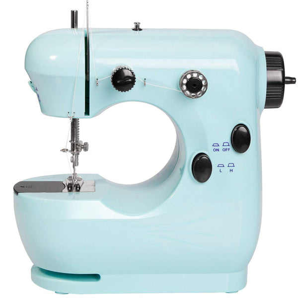Mini sewing machine, Small sewing machine, Portable small sewing machine, Center seam blade machine, Light household sewing machine (blue)