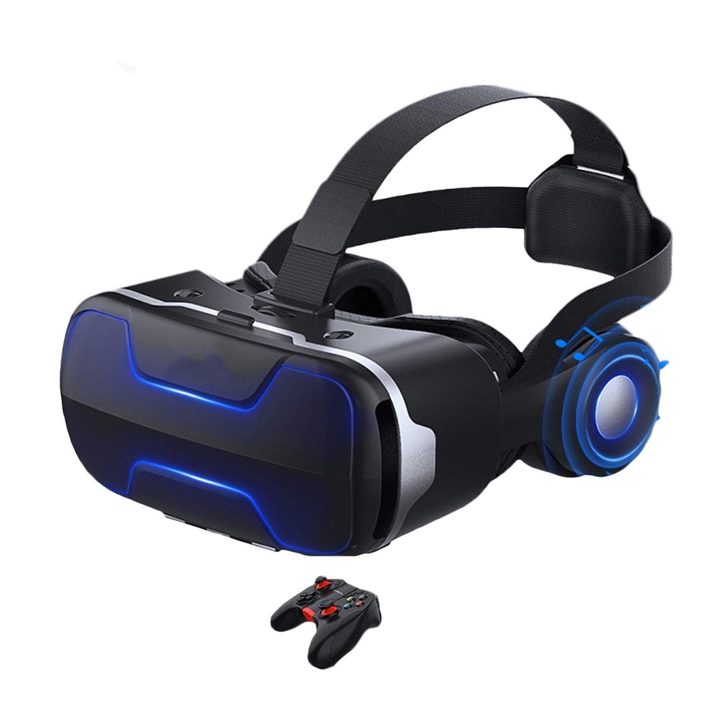 JYMENLING YANJINGYJ VR Headset ، Reality Virtual Goggles ، 3D VR Glasses ، All-in-One VR Games Headset ، مع لينة مريحة متوافقة مع iPhone و Android (اللون: أسود ، الحجم: B)