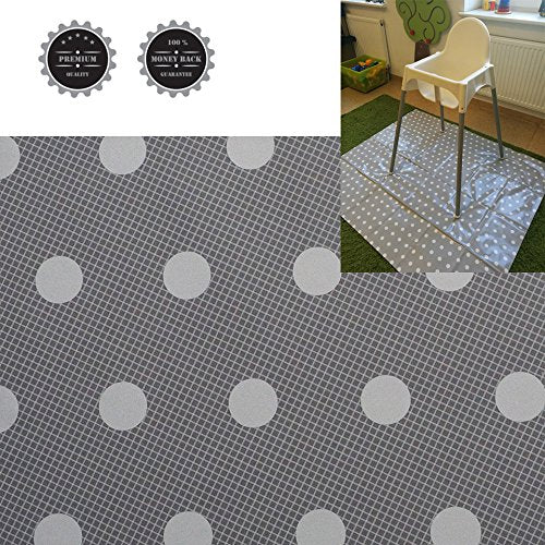 Easy Cleaning Splash Mat for Highchair Weaning Mat Waterproof Multipurpose (Large Grey) BD 11.700