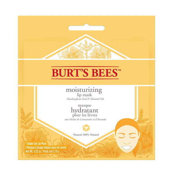 Burt's Bees 100 Percentage Natural Moisturizing Lip Mask, Conditioning Lip Care with Meadow Foam Seed and Almond Oils