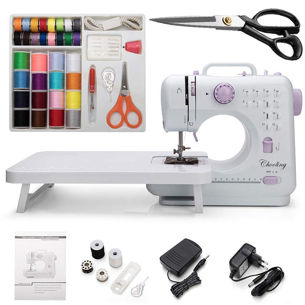 Chooling Sewing Machine (12 Stitches, 2 Speeds, Foot Pedal, LED Sewing Lamp) - Small Household Electric Overlock Sewing Machines CL-033-K