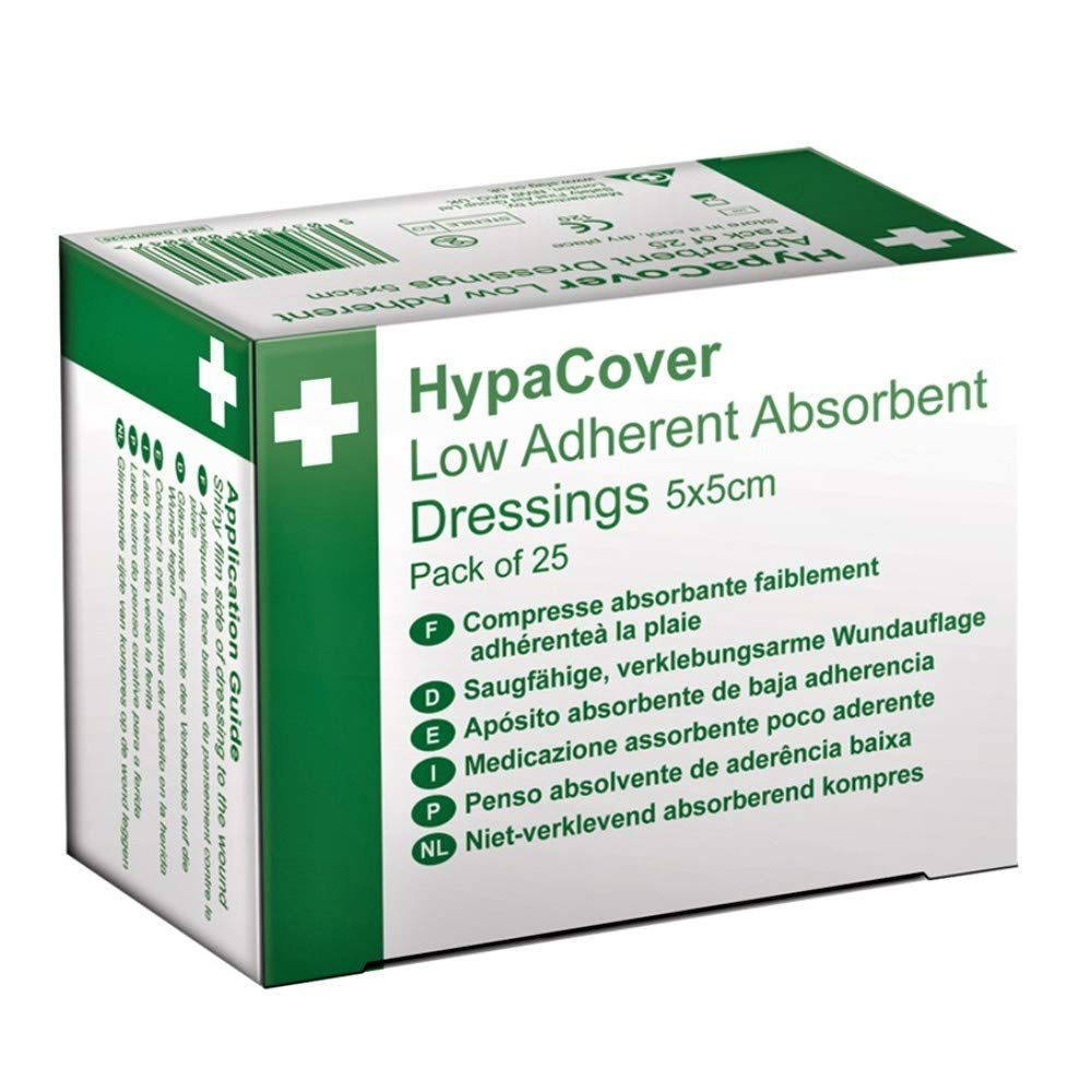 HypaCover Low Adherent Absorbent Dressing 5 x 5cm (Pack of 25)