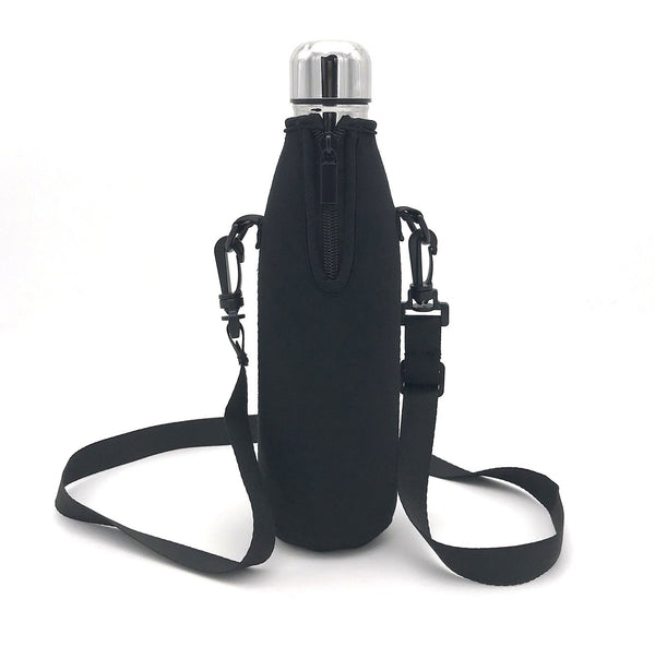 Wommty Neoprene 20Oz(480ml) Insulated Water Drink Bottle Cooler Bottle Carrier Bottle Sleeve Tote Bag with Carrying Strap for Climbing Cycling and Running Outdoor Activities