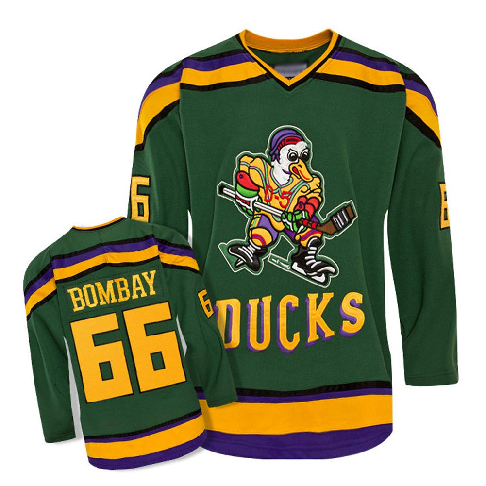 TRKOT Charlie Conway # 96 / Gordon Bombay # 66 / Fulton Reed # 44 NHL Mighty Ducks Ice Hockey Jersey Men Sweatshirts تنفس بأكمام طويلة