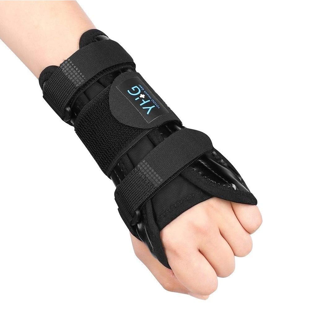 Wrist Brace Carpal Tunnel, Breathable Wrist Support Brace with Removable Metal Splint Stabilizer and Three Elastic Straps, Carpal Tunnel Wrist Splint for Joint, Arthritis, Tendonitis