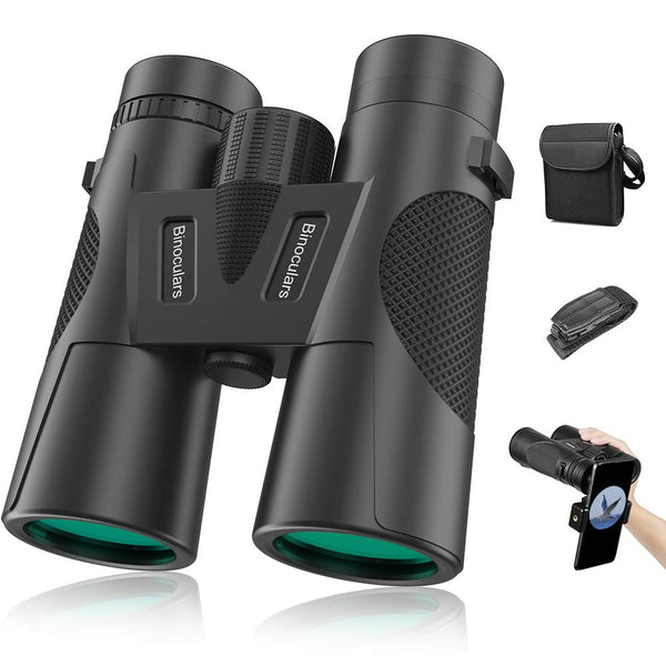 High Power Binoculars, 12X42 Binocular w Low Light Night Vision BAK4 Prism FMC Lens Waterproof & Fogproof for adult/3-12 Years Kids Outdoor Birding/Travelling/Sightseeing/Hunting/Birdwatching-ATKJ