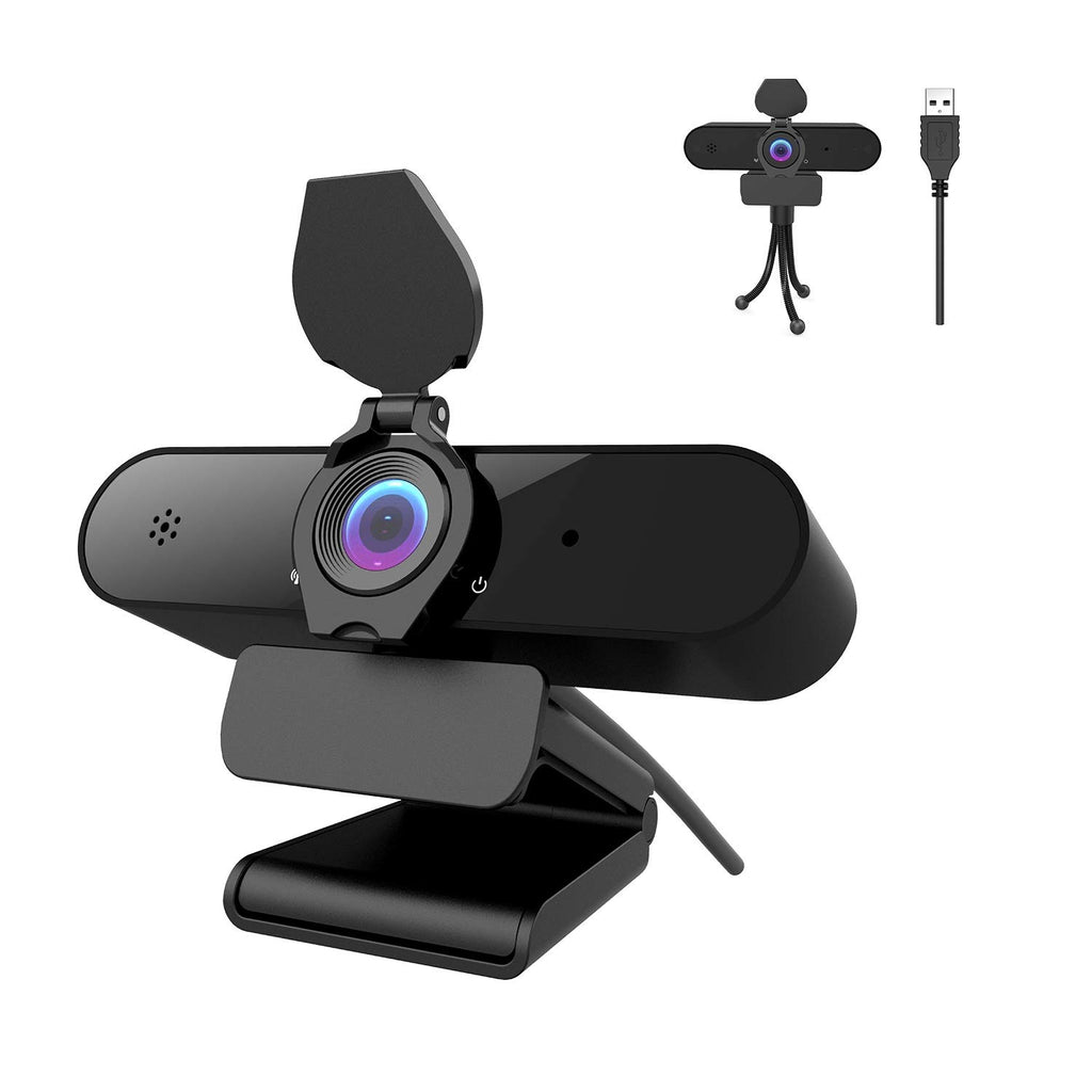 AceScreen 2K/4MP/1440P Webcam for PC with Microphone, Full HD Webcam with Privacy Cover & Tripod, 115°Wide-angle View, Plug and Play USB Web Camera for Live Streaming, Conference, Video Calling