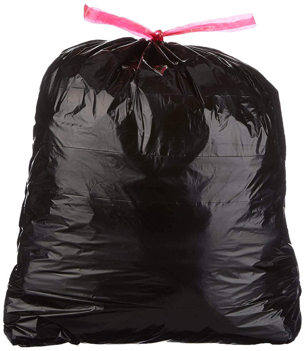 "Commander 39 Gallon 1.2 MIL Extra Thick Drawstring Heavy Duty Black Trash Bags - 33"" x 41"" - Pack of 40 - For Home, Industrial, Commercial, 15% Thicker than the competition"