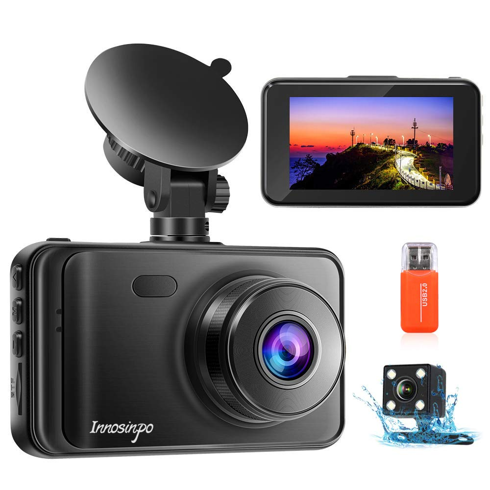 Upgraded Dash Cam Front and Rear Camera?2020 Newest Model?1080P FHD Dual Dash Camera Dashcam for Car DVR Dashboard Camera with Night Vision, 170° Wide Angle, Loop Recording, G-sensor, Parking Monitor