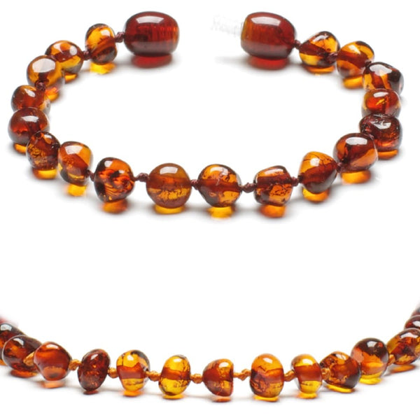 Baltic Secret New New Baltic Amber Anklet Bracelet Cognac - Handmade 100% Genuine Amber Beads - Premium Quality