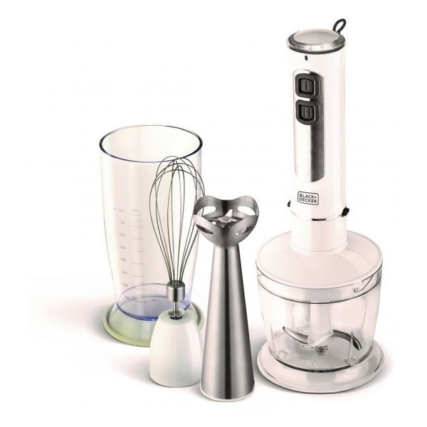 Black and Decker 800ml 4in1 Blender with Chopper White SB4000