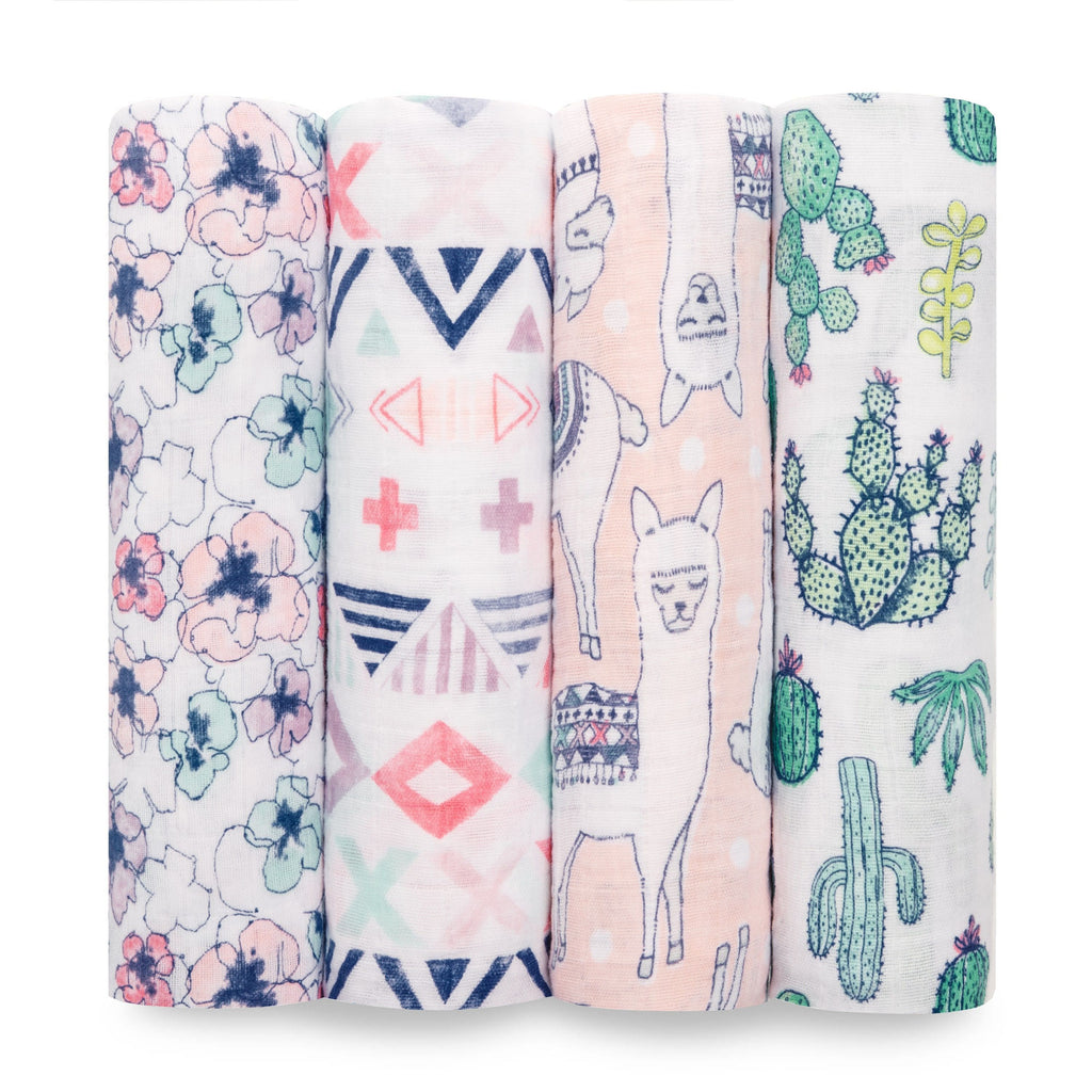 Aden+Anais - Trail Blooms 4-Pack Classic Swaddles