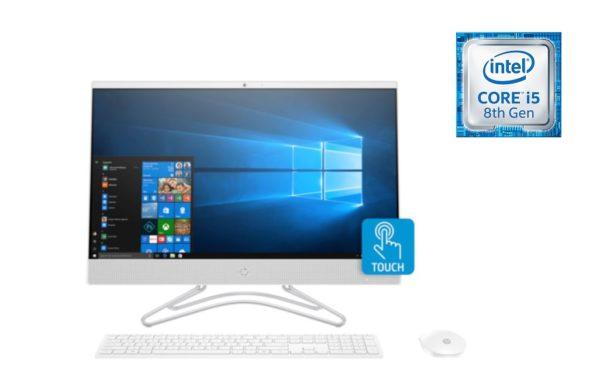 HP 24-F0000NE All-in-One Desktop – Core i5 1.6GHz 8GB 1TB+16GB 2GB Win10 23.8inch FHD Snow White