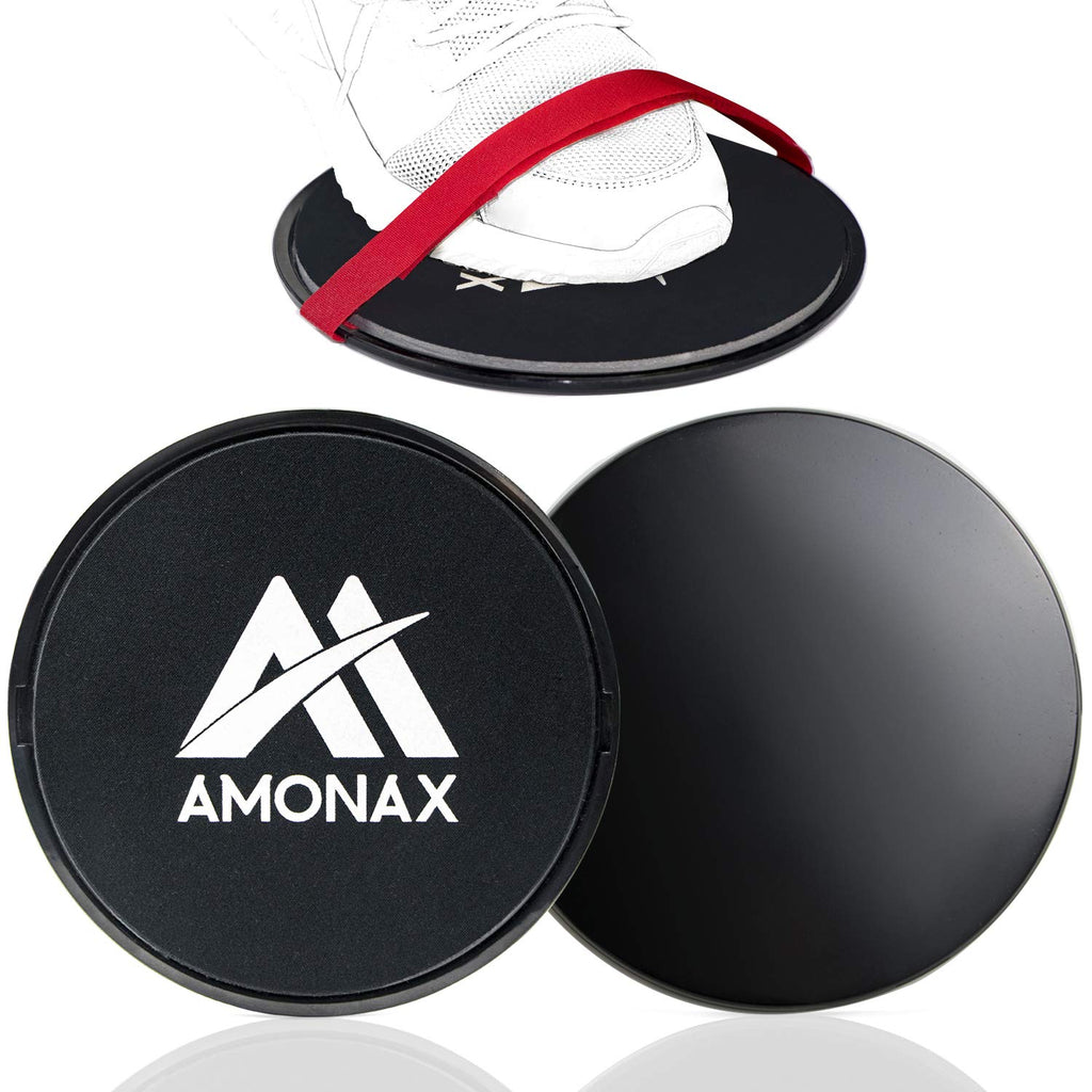 Amonax Core Slider ، أقراص انزلاقية مزدوجة الجوانب مع أشرطة. Ab Gliders for Core Exercise Fitness at Gym & Home، Dual ...