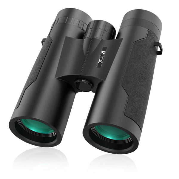 Slicoo 12x42 Binoculars for Adults Bird Watching, Compact Binocular with BAK4 Prism FMC Lens for Outdoor Hunting Stargazing