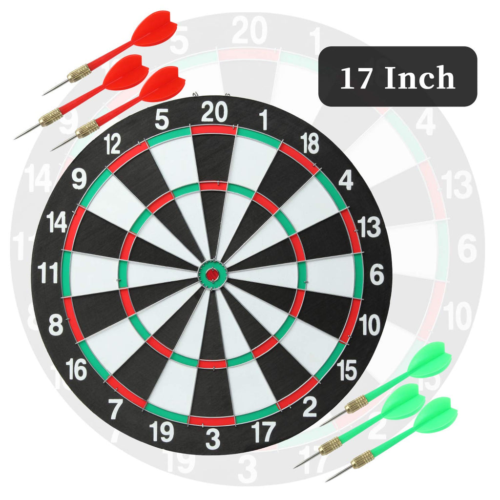Stamain Darts Board?Double-sided Dart Board With 6 Tip Darts,Professional Home Dartboard Kit Dart Board, Adult Leisure Board Indoor Hanging Target Game For Party, Office, Game Room