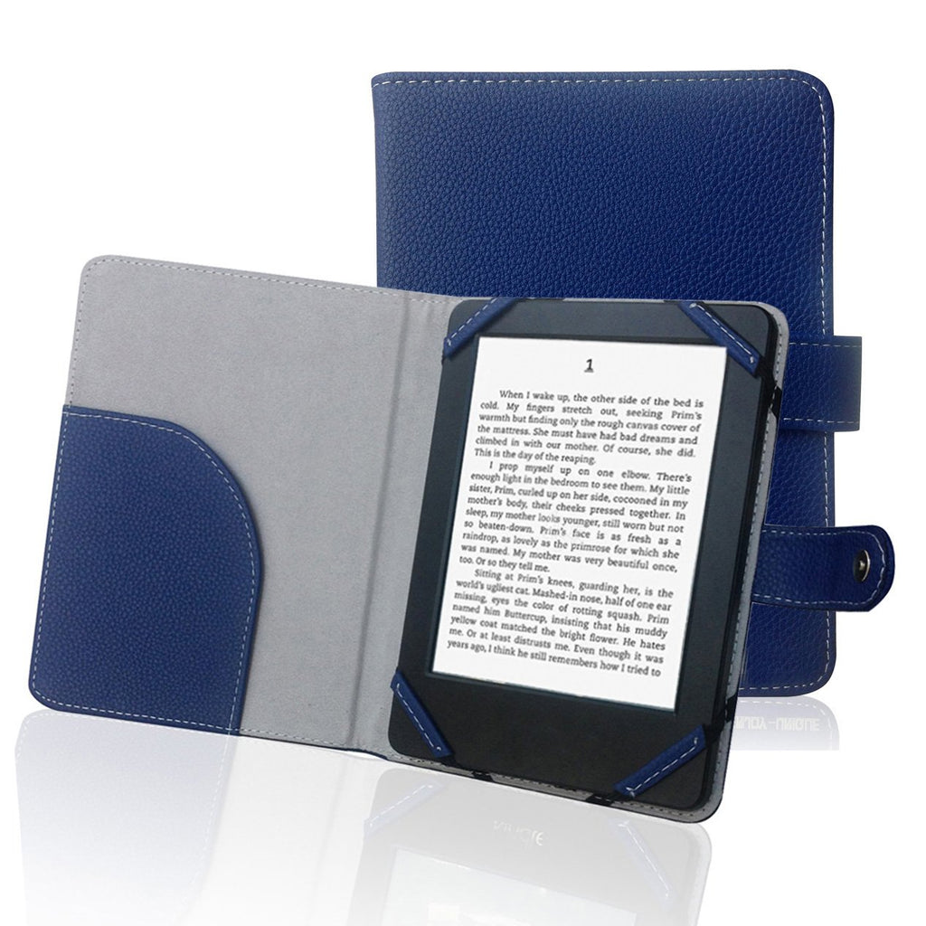 """ENJOY-UNIQUE Book Style Litch Pu Leather Case Cover for 6 """"ebook Reader Case Cover for sony / kobo / Pocketbook / nook / tolino 6inch ebook Reader (Blue)"""