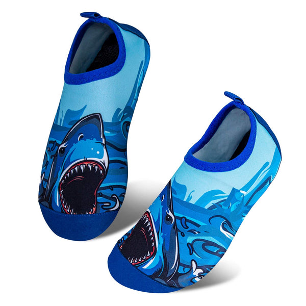 CATERTO Kids Swim Water Shoes Barefoot Lightweight Quick-Dry Aqua Socks for Boys Girls Toddlers Barefoot Soft for Pool Beach