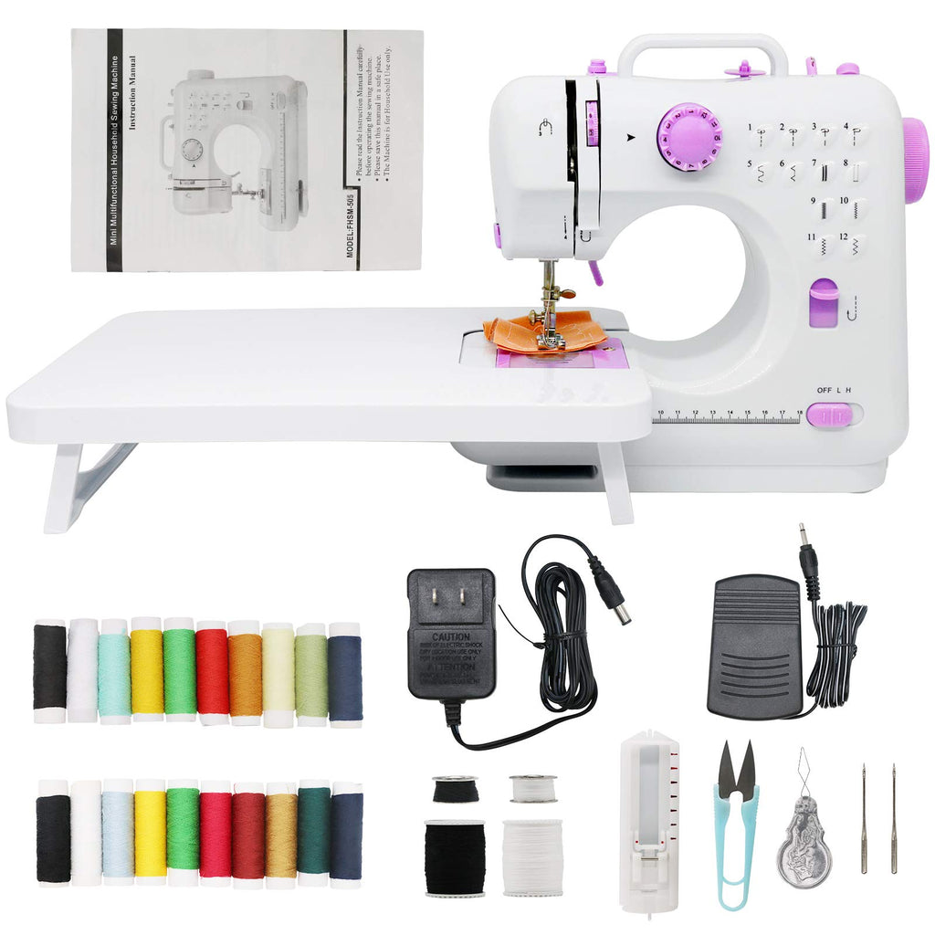 Portable Sewing Machines 12 Stitches 2 Speed with Foot Pedal,Easy Sewing Machine for Household Crafting Mending,Sewing Machine for beginners