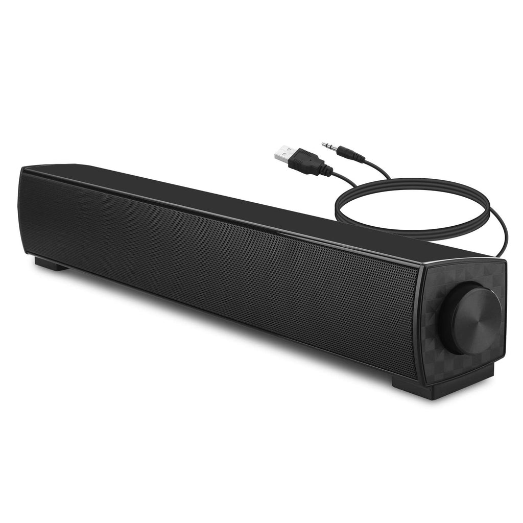 Computer Speakers, Wired Laptop Sound Bar Speaker, USB Powered Desktop soundbar for PC Tablets Desktop Cellphone Laptop
