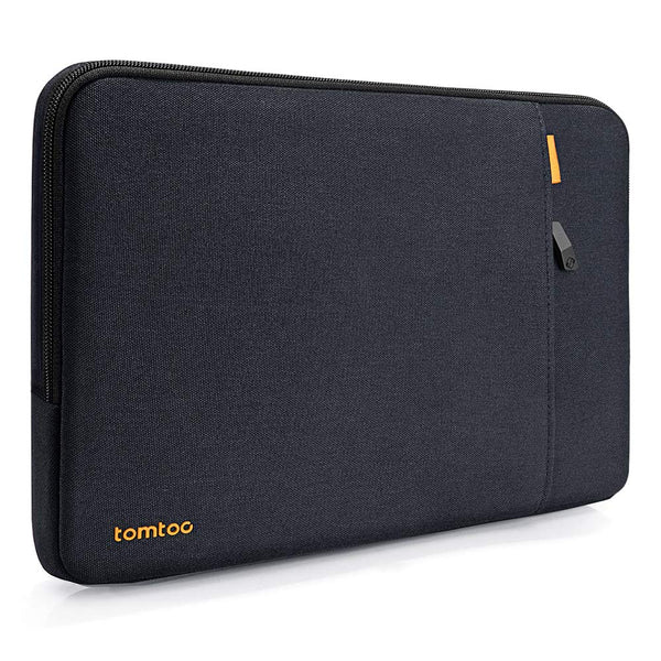 tomtoc 360° Protective Laptop Sleeve compatible with Dell XPS 13 2020, 12.3 Inch Microsoft Surface Pro X/7/6/5/4/3/2/1, 11.6 Inch MacBook Air Notebook Case Bag, Spill-Resistant, Blue Black