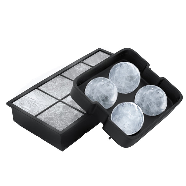 Ice Cube Tray- Silicone Slow Melting Ice Ball Mold for Whiskey, Square Ice Cube Maker, or Shape Frozen Fruit with Easy Release by Chef Buddy (2 Pack)