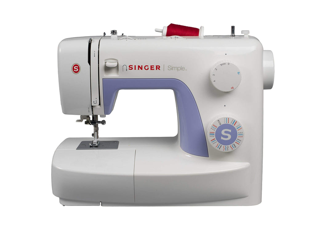 Singer 3232 Sewing Machine, White and Lavender Portable Sewing Machine with Foot Pedal, 12 Stitches 2 Speed Heavy Duty Sew Machine, Electric Handheld Quilting Embroidery Overlock Quick Sewing Machine Household Sewing Tool Janome J3-24 Sewing Machine