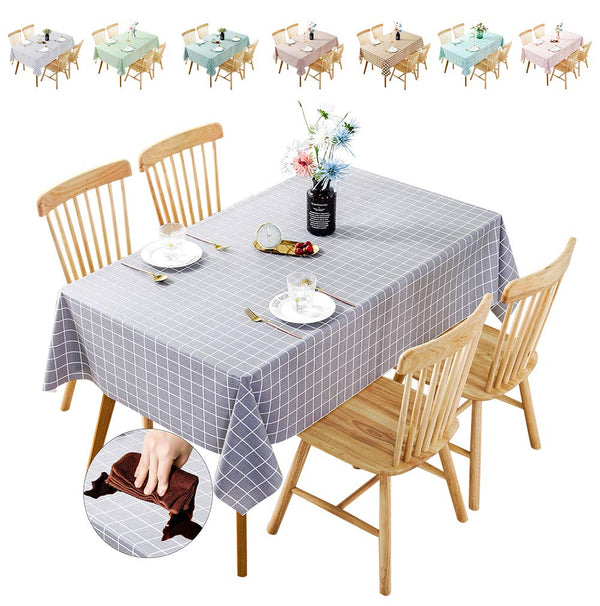 No branded Waterproof Tablecloth,Oilproof, Wipeable,Stain-Resistant PVC Table Cloth,Wipe Clean Table Cover for Dining Table, Buffet Parties and Camping (COLOR4, 140 * 200)
