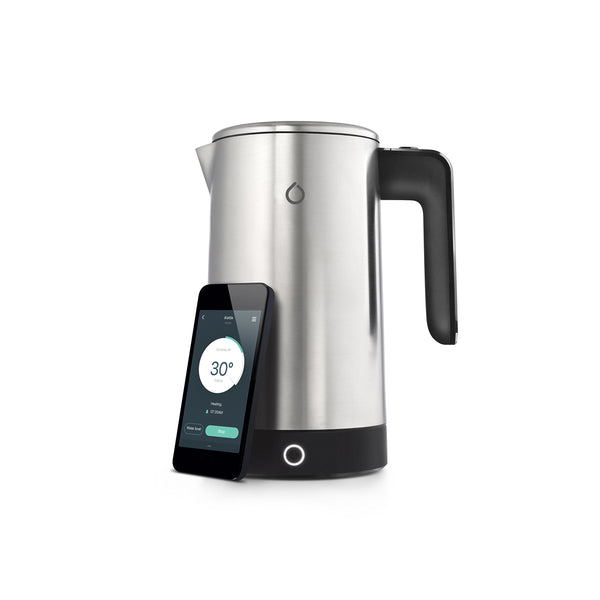 Smarter iKettle Smart WiFi Internet Smart Kettle, 3000w, Brushed Stainless Steel, 1.8 Litre (3rd Generation) - Electric, Digital Temperatures, iOS, Android App, Alexa Enabled with Keep Warm Function