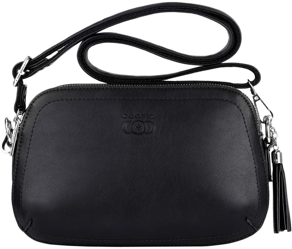 Small Handbag,COOFIT Women Handbag Small Black Handbag Clutch Bags for Women Crossbody Bag Shoulder Pocket Clutch With Tassel