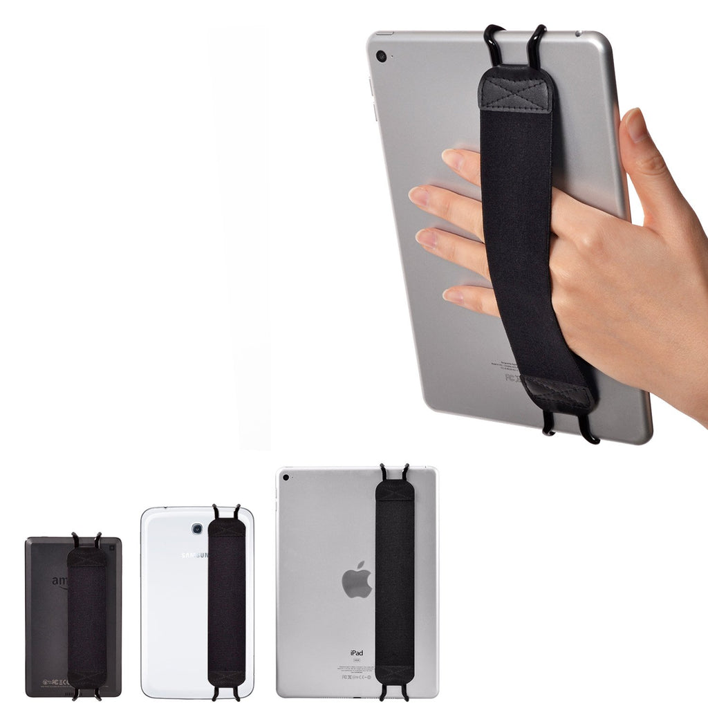 "TFY Security Hand Strap Holder for Tablets، iPad، e-Reader - Apple iPad، iPad 4 (iPad 2 & 3)، iPad Air (iPad Air 2)، iPad Mini - iPad Pro 9.7 ""- Samsung Galaxy Tab - Google Nexus والمزيد"