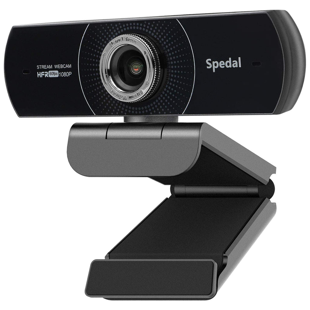 Spedal Webcam 1080p 60fps, HD Webcam with Microphone for Desktop, Manual Focus USB Webcam for Laptop, Computer Camera Streaming for Skype/Facebook/OBS Compatible for Mac/Windows