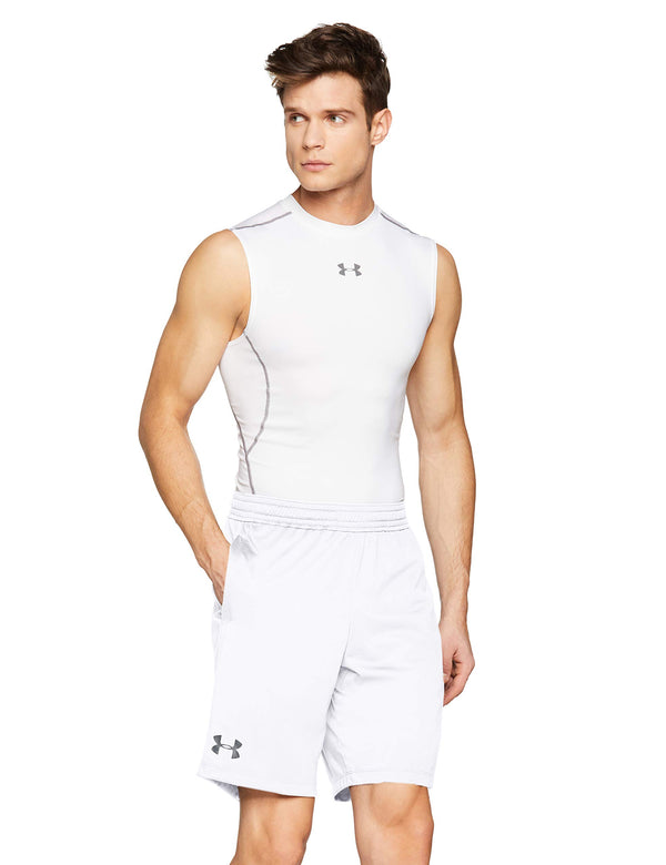 Under Armour Men UA RAID 8 Shorts, Ultralight & Fast-Drying Workout Shorts for Men, Loose Sports Shorts with 4-Way Stretch Fabric White Medium