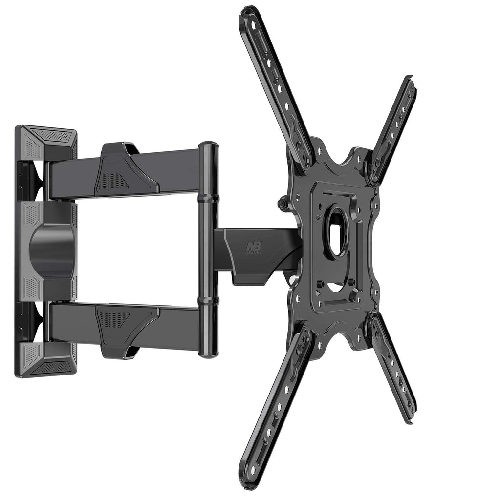 "NB North Bayou Full Motion Articulating TV Wall Mount Bracket for 32""-55"" LED LCD Plasma Flat Screen Monitor up to 70 lbs Black P4"