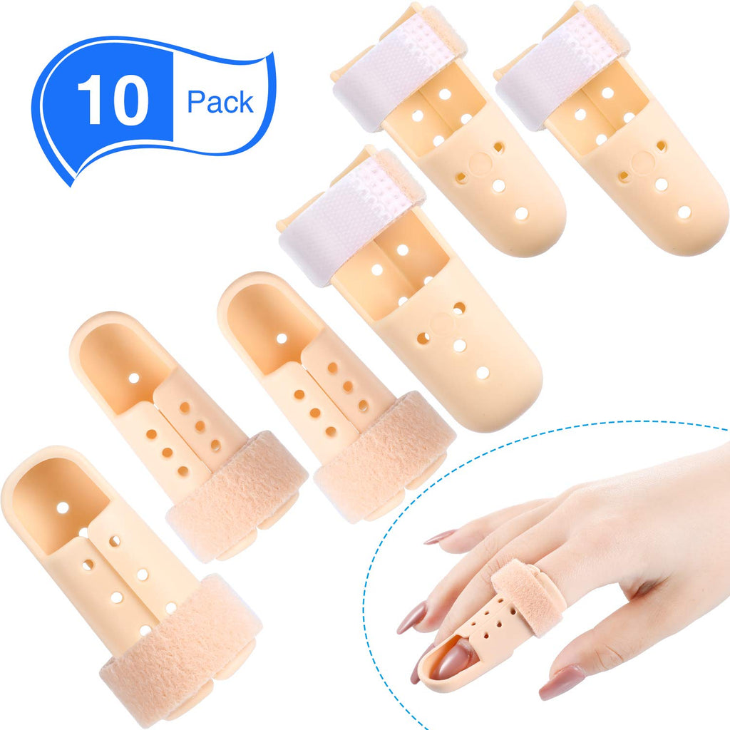 10 Pieces Finger Splint Mallet Finger Support Finger Splint Brace Plastic Finger Support Protector for Adjustable Finger…