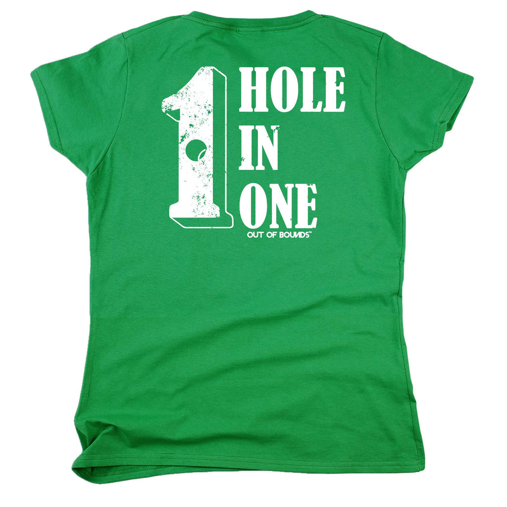 Golfing Tee - FB - Hole in One Women Fitted Cotton T-Shirt Top T Shirt