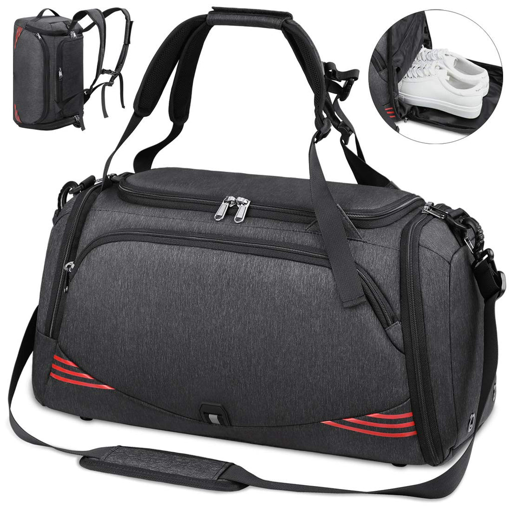 Sports Gym Bag Travel Duffel Bags with Shoe Compartment Overnight Weekend Holdall Waterproof Training Fitness Duffle for Men Women 40L 65L