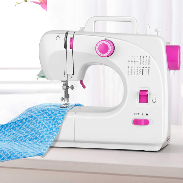 ?Deal for Last Shipment?Sewing Machine Eofiti Multi-function Sewing Machine 16 Stitches Speed Adjustable Electric Portable Sewing Machine Compact for Beginners with Foot Pedal for Family DIY Handmade