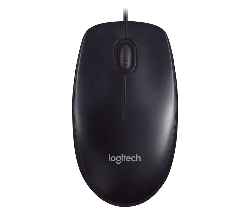 Logitech Mouse Wired USB M90 - BLACK