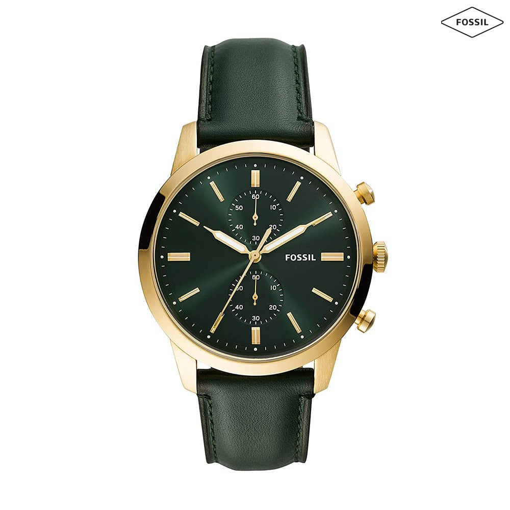 Fossil Analog Green Dial Mens Watch, FS5599