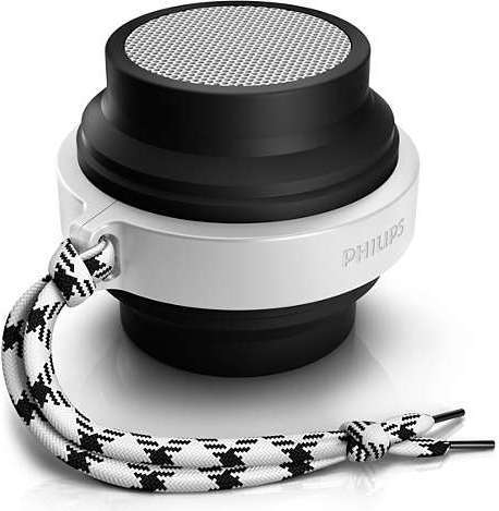 Philips BT2000B00 Portable Bluetooth Speaker Black/White
