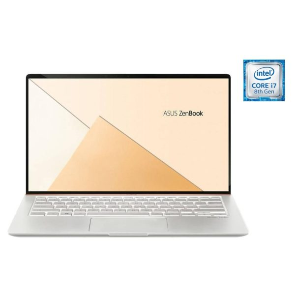 Asus ZenBook 14 UX433FN Laptop – Core i7 1 8GHz 16GB 512GB 2GB Win10 14inch  FHD Silver