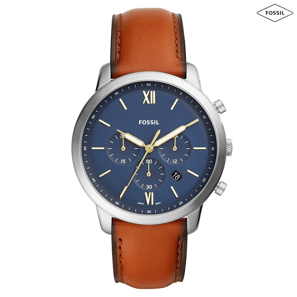 Fossil Analog Blue Dial Mens Watch, FS5453