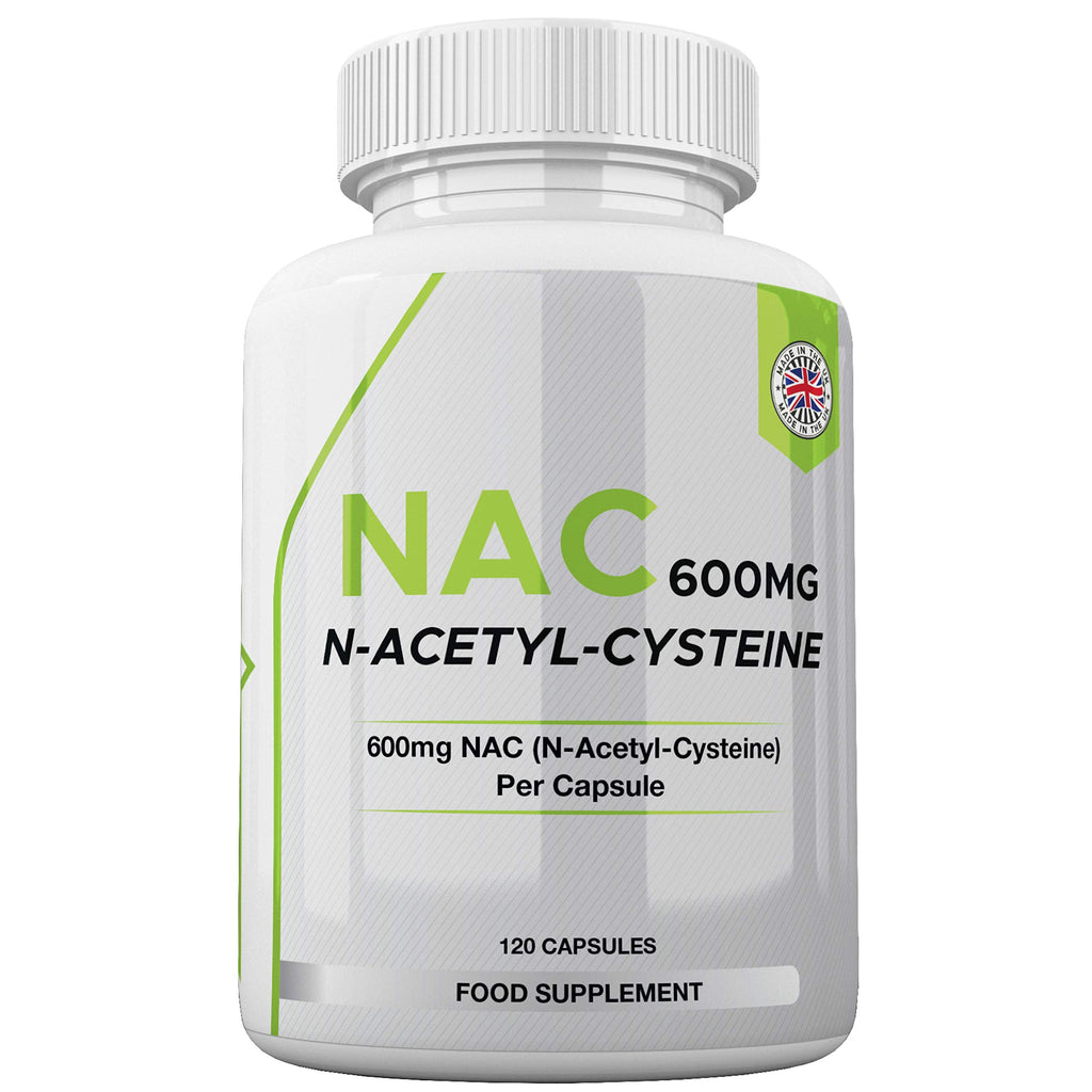 NAC Supplement (600mg) - 120 Capsules | N-Acetyl-Cysteine Amino Acid - UK Made